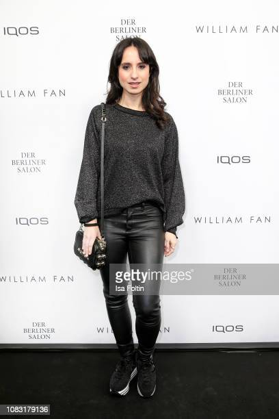 German actress Stephanie Stumph arrives at the William Fan Defile during 'Der Berliner Salon' Autumn/Winter 2019 at Knutschfleck on January 15 2019...