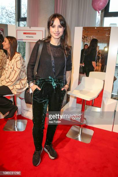 German actress Stephanie Stumph attends the InStyle Lounge Opening Brunch/Open House at Cafe Moskau on January 16, 2019 in Berlin, Germany.