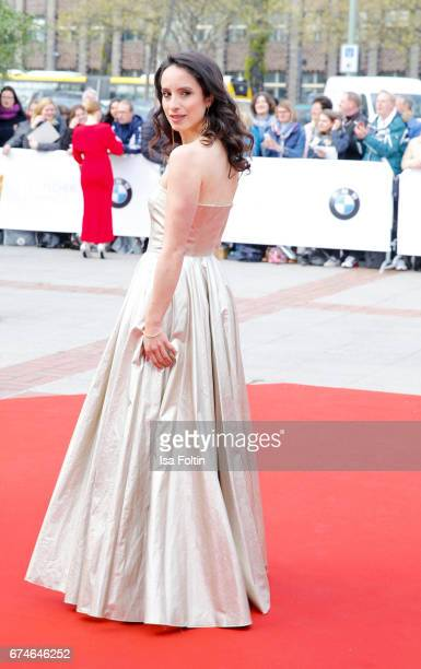 German actress Stephanie Stumph during the Lola - German Film Award red carpet arrivals at Messe Berlin on April 28, 2017 in Berlin, Germany.
