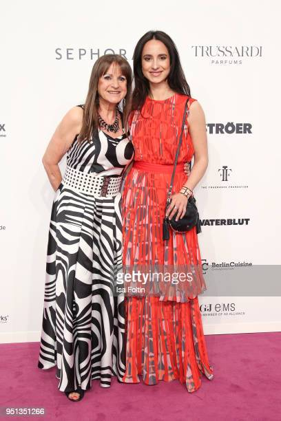 German actress Stephanie Stumph with her mother Christine Stumph during the Duftstars at Flughafen Tempelhof on April 25, 2018 in Berlin, Germany.