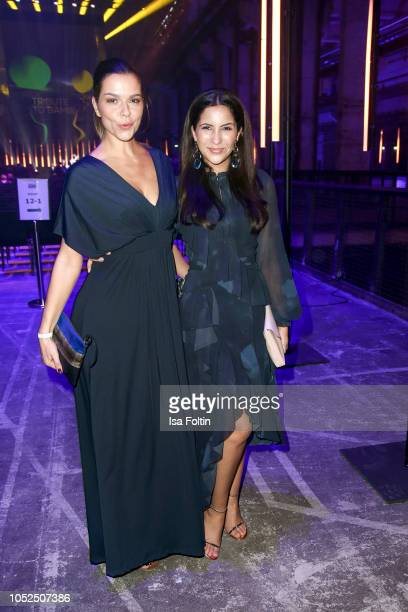 German actress Susan Hoecke and German actress Chryssanthi Kavazi during the Tribute To Bambi at Kraftwerk Mitte on October 18 2018 in Berlin Germany