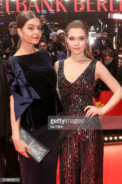 German actress Susan Hoecke and German actress Farina Flebbe attend the Opening Ceremony 'Isle of Dogs' premiere during the 68th Berlinale...