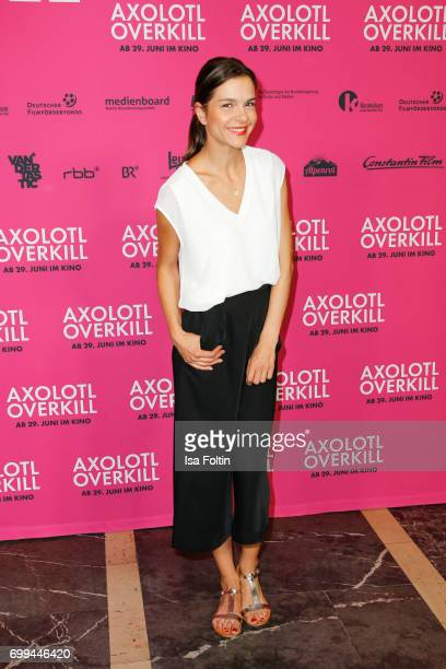 German actress Susan Hoecke attends the 'Axolotl Overkill' Berlin Premiere at Volksbuehne RosaLuxemburgPlatz on June 21 2017 in Berlin Germany