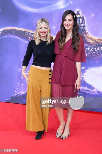 """German actress Susan Sideropoulos and German actress Johanna Klum attend the movie premiere of """"Aladdin"""" at UCI Luxe Mercedes Platz on May 11, 2019..."""