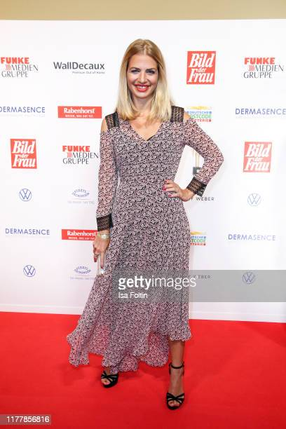 German actress Susan Sideropoulos attends the annual Goldene Bild der Frau award on October 23 2019 in Hamburg Germany