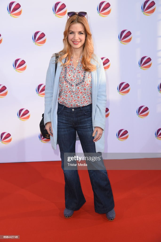 German actress Susan Sideropoulos attends the photo call for the television film 'Nackt. Das Netz vergisst nie' at Astor Film Lounge on March 27, 2017 in Berlin, Germany.
