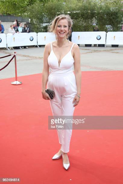 German actress Susanne Bormann attends the Lola German Film Award red carpet at Messe Berlin on April 27 2018 in Berlin Germany