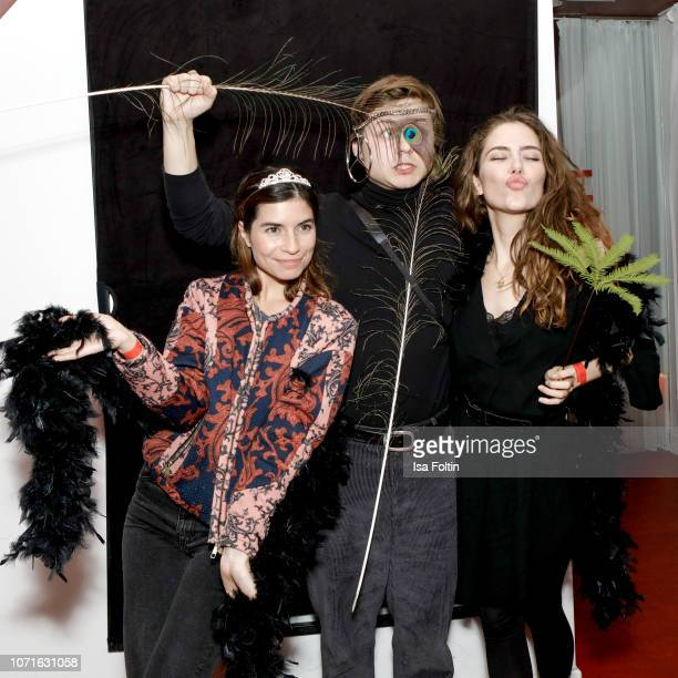 German actress Tanja Lehmann German actor Tom Boettcher and German actress and blogger Marielena Krewer during the event 'FechtOlympiasiegerin fliegt...