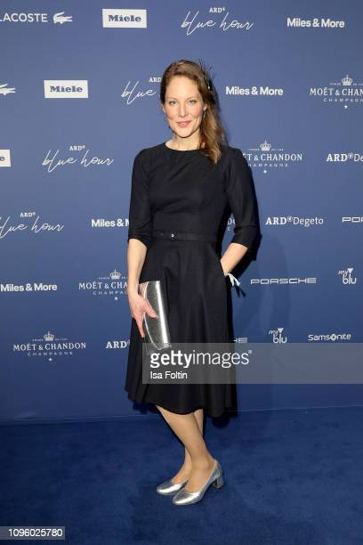 German actress Tessa Mittelstaedt attends the Blue Hour Party hosted by ARD during the 69th Berlinale International Film Festival at Haus der...