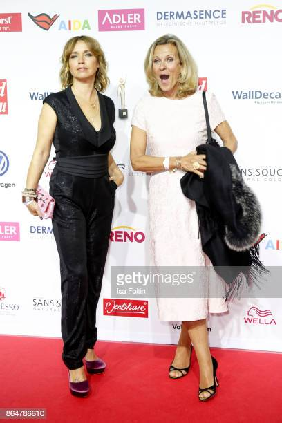 German actress Tina Ruland and German actress Andrea L'Arronge attend the 'Goldene Bild der Frau' award at Hamburg Cruise Center on October 21 2017...