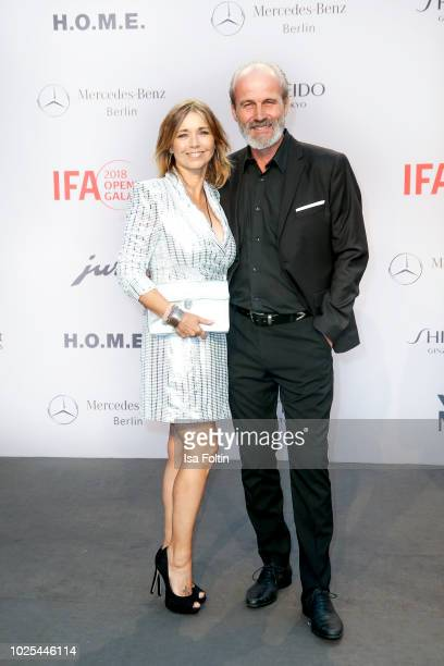 German actress Tina Ruland and her husband Claus G Oeldorp attend the IFA 2018 opening gala on August 31 2018 in Berlin Germany