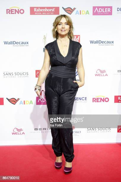 German actress Tina Ruland attends the 'Goldene Bild der Frau' award at Hamburg Cruise Center on October 21 2017 in Hamburg Germany