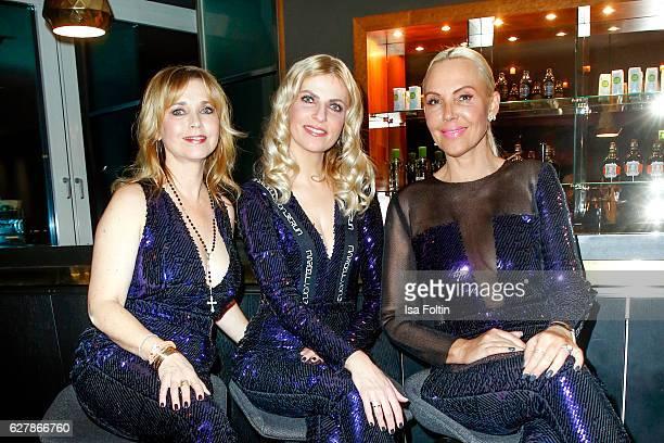 German actress Tina Ruland german moderator Tanja Buelter and german actress Natascha Ochsenknecht attend the 1st Anniversary Celebration Of Berlin...