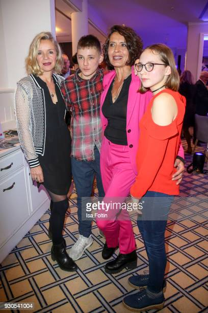 German actress Ulrike Folkerts with her girlfriend Katharina Schnitzler and the kids Kaspar and Gretel during the 'Baltic Lights' charity event on...