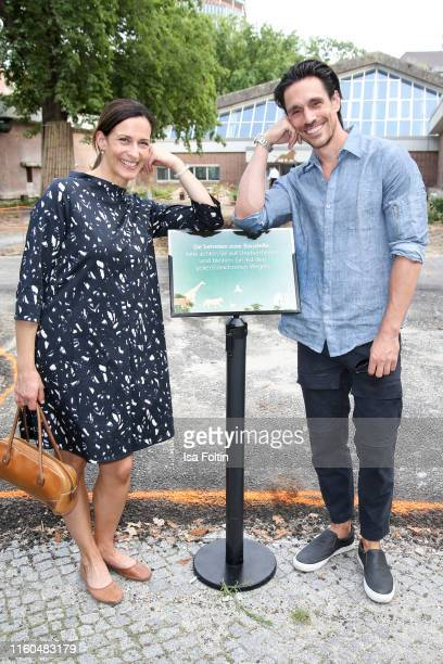 German actress Ulrike Frank and German actor Philipp Christopher during the 175th anniversary of Berlin Zoological Garden on August 9 2019 in Berlin...