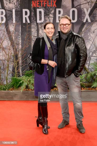 German actress Ulrike Frank and her husband Marc Schubring attend the European premiere of the film 'Bird Box' at Zoo Palast on November 27 2018 in...