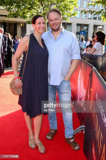 German actress Ulrike Frank and her husband Marc Schubring attend the Traumfabrik Movie Premiere on June 24 2019 in Berlin Germany