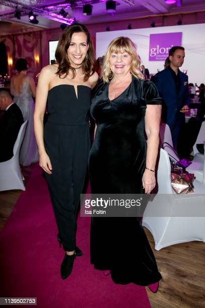German actress Ulrike Frank and Swedish actress Inger Nilsson attend the Gloria Deutscher Kosmetikpreis at Hilton Hotel on March 30 2019 in...