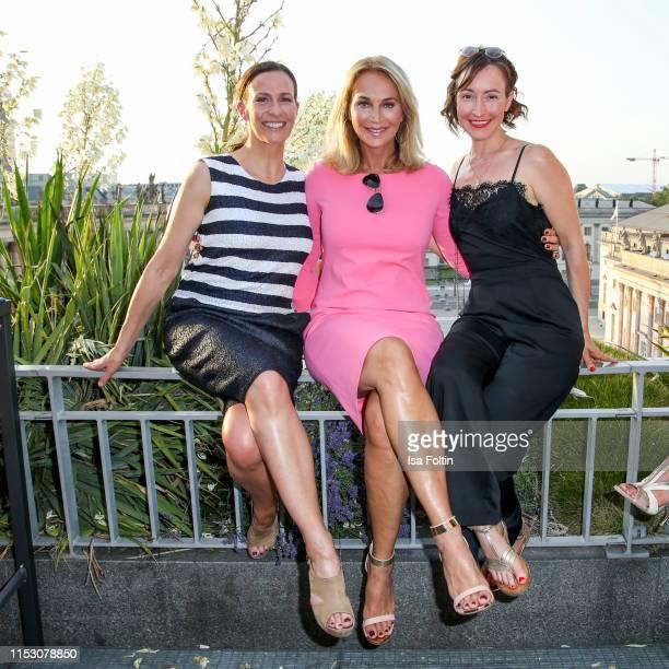 German actress Ulrike Frank German actress Caroline Beil and German actress Maike von Bremen during the TwoTell Ladiesdinner 2019 at Hotel De Rome on...