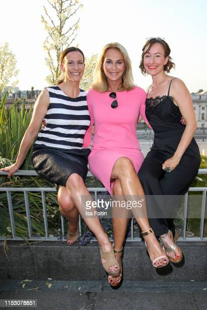 German actress Ulrike Frank German actress Caroline Beil and German actress Maike von Bremen during the TwoTell Ladiesdinner 2019 at Hotel De Rome on...