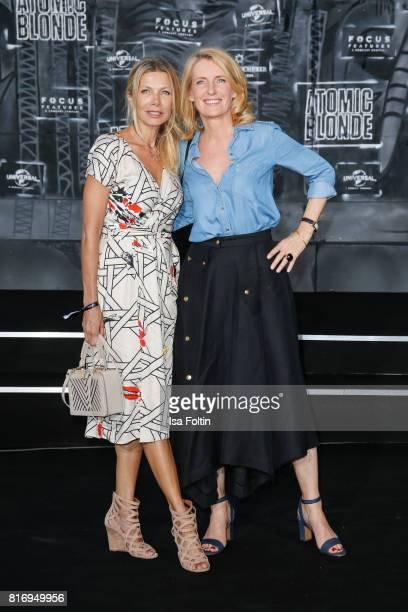 German actress Ursula Karven and German actress Maria Furtwaengler attend the 'Atomic Blonde' World Premiere at Stage Theater on July 17 2017 in...