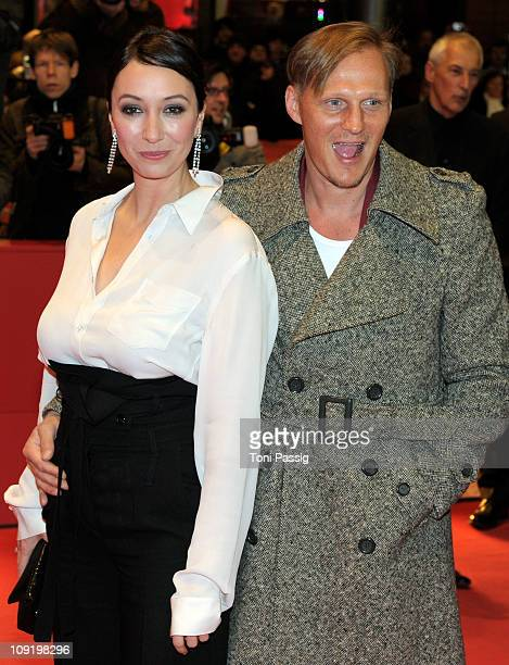 German actress Ursula Strauss and Austrian actor Georg Friedrich attend the 'Mein Bester Feind' Premiere during day seven of the 61st Berlin...