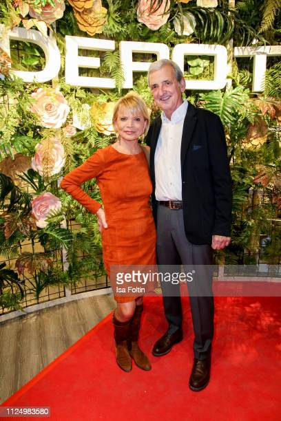 German actress Uschi Glas and her husband Dieter Hermann attend the preopening of the new DEPOT flagship store on February 14 2019 in Munich Germany