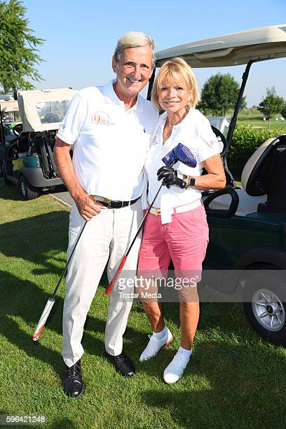 German actress Uschi Glas and her husband Dieter Hermann attend the GRK Golf Charity Masters on August 27 2016 in Leipzig Germany