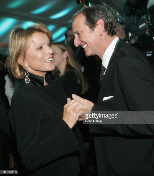 German actress Uschi Glas and her husband Dieter Hermann attend the Kitz Race Party after the Hahnenkamm slalom races January 27 2007 in Kitzbuehel...
