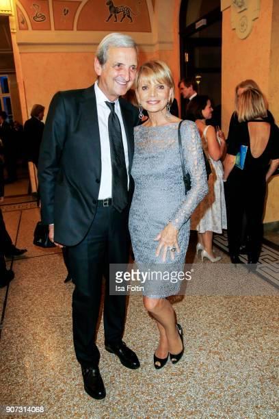 German actress Uschi Glas and her husband Dieter Hermann attend the Bayerischer Filmpreis 2018 at Prinzregententheater on January 21 2018 in Munich...