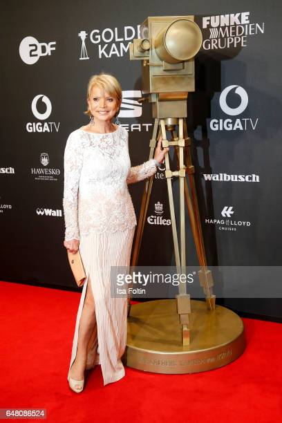 German actress Uschi Glas arrives for the Goldene Kamera on March 4 2017 in Hamburg Germany
