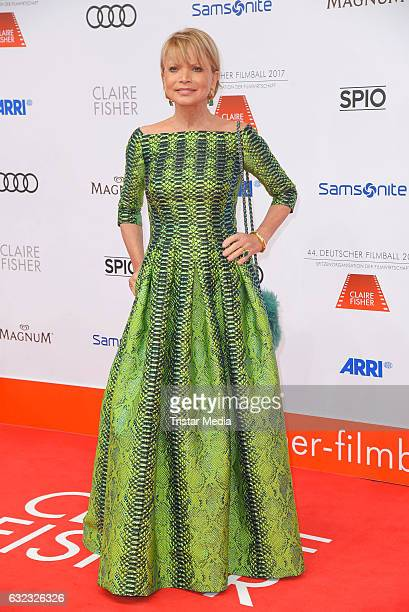 German actress Uschi Glas attends the German Film Ball 2017 at Hotel Bayerischer Hof on January 21 2017 in Munich Germany