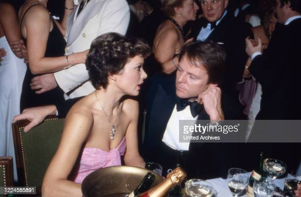 German actress Uschi Glas with Bernd Tewaag, Germany, 1980s.