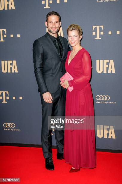 German actress Valerie Niehaus and Matthias Weidenhoefer attend the UFA 100th anniversary celebration at Palais am Funkturm on September 15 2017 in...