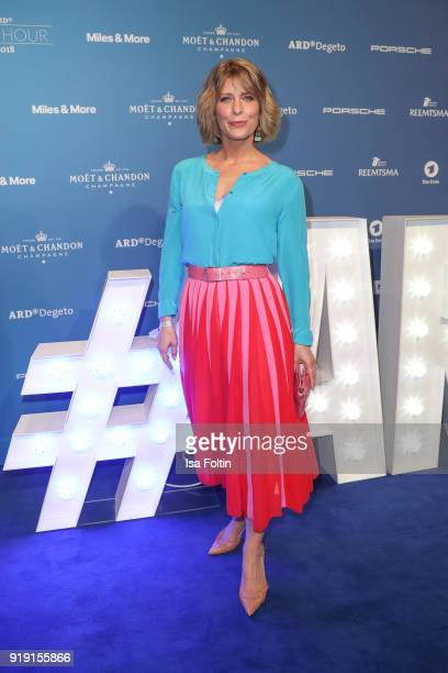 German actress Valerie Niehaus attends the Blue Hour Reception hosted by ARD during the 68th Berlinale International Film Festival Berlin on February...