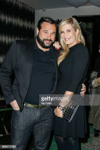 German actress Verena Wriedt and her husband Thomas Schubert during the Bunte New Faces Night at Grace Hotel Zoo on January 15 2018 in Berlin Germany
