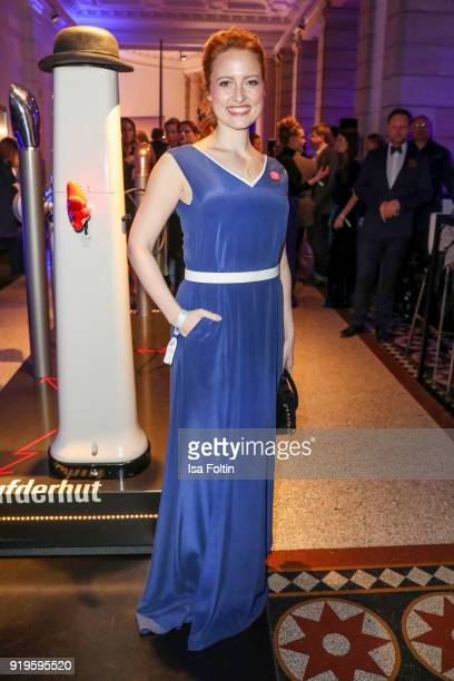 German actress Wanda Perdelwitz attends the Blue Hour Reception hosted by ARD during the 68th Berlinale International Film Festival Berlin on...