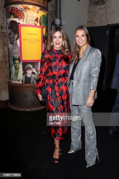 German actress Wolke Hegenbarth and German presenter Laura Wontorra during the Bulgari party with the motto #Starsinbulgari on February 7 2019 in...