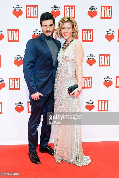 German actress Wolke Hegenbarth and her boyfriend Oliver attend the Ein Herz Fuer Kinder gala on December 3, 2016 in Berlin, Germany.