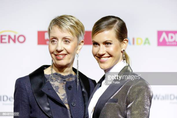 German actress Wolke Hegenbarth and her mother Gabi Hegenbarth attend the 'Goldene Bild der Frau' award at Hamburg Cruise Center on October 21 2017...