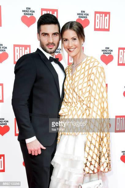 German Actress Wolke Hegenbarth and her partner Oliver Vaid attend the 'Ein Herz fuer Kinder Gala' at Studio Berlin Adlershof on December 9 2017 in...