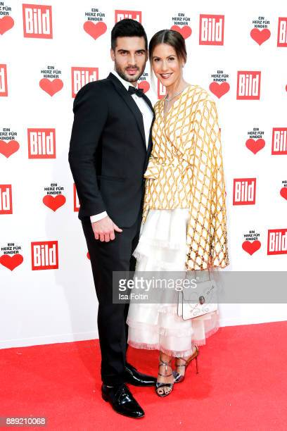 German Actress Wolke Hegenbarth and her partner Oliver Vaid attend the 'Ein Herz fuer Kinder Gala' at Studio Berlin Adlershof on December 9 2017 in...