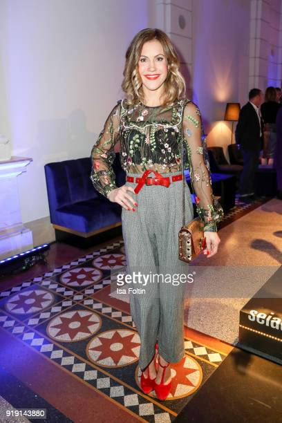 German actress Wolke Hegenbarth attends the Blue Hour Reception hosted by ARD during the 68th Berlinale International Film Festival Berlin on...