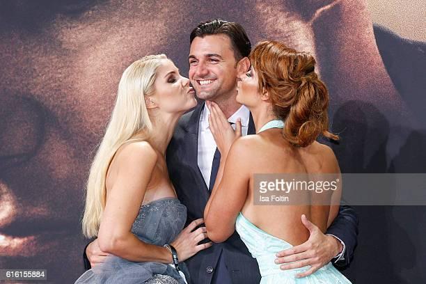German actress Yvonne Woelke, Felix Steiner and model Micaela Schaefer attend the 'Jack Reacher: Never Go Back' Berlin Premiere at CineStar Sony...