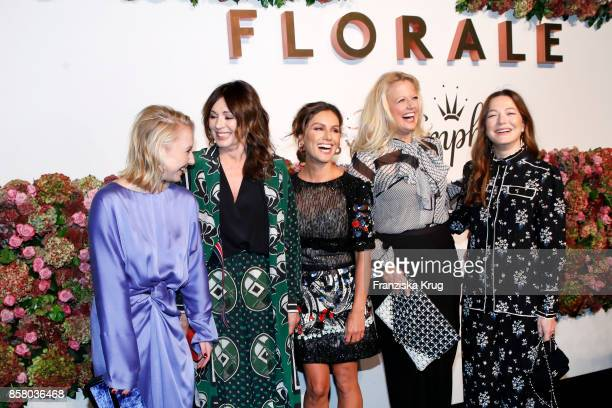 German actresses Anna Maria Muehe and Iris Berben german presenters Nazan Eckes and Barbara Schoeneberger and german actress Hannah Herzsprung in in...