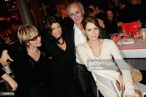 German actresses Gerit Kling and Anja Kling , their mother Margarita Kling and father Ulrich Kling attend the Herz fuer Kinder charity gala at Axel...