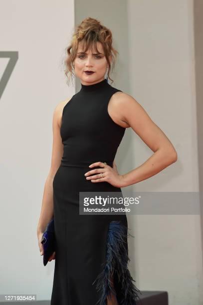 German actresss Mala Emde at the 77 Venice International Film Festival 2020 Und Morgen Die Ganze red carpet Venice September 10th 2020