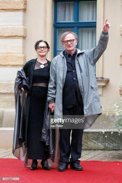 German actror Michael Lerchenberg and his wife EvaMaria Lerchenberg attend the Bayreuth Festival 2017 Opening on July 25 2017 in Bayreuth Germany