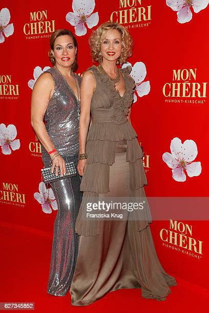 German acxgtress Julia Dahmen and german actress Isabella Huebner attend the Mon Cheri Barbara Tag at Postpalast on December 2 2016 in Munich Germany