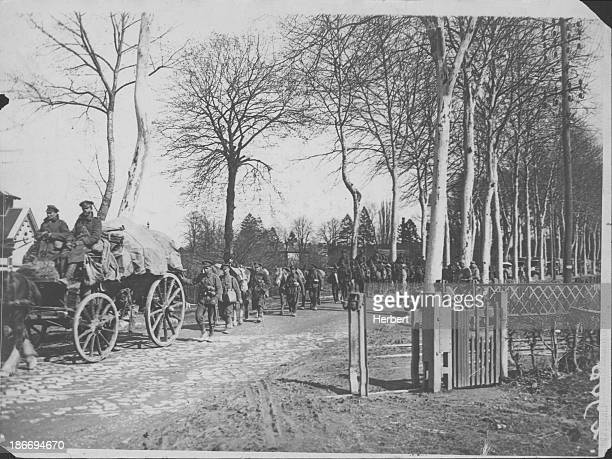 German advancement at the Battle of Amiens during World War One France August 1918